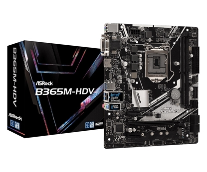 Picture of ASRock B365M-HDV, INTEL B365 Series, LGA1151, 2 DDR4, 6 x SATA3