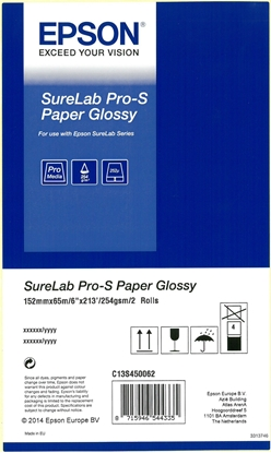 Picture of 1x2 Epson SureLab Pro-S Paper BP Glossy 152 mm x 65 m 254 g