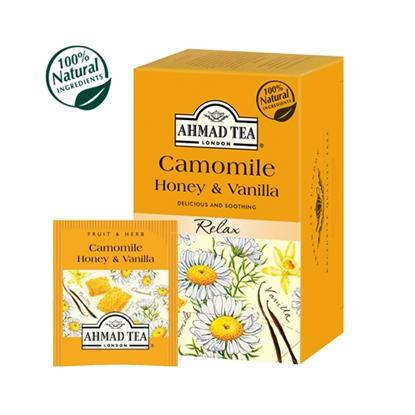 Picture of AHMAD Augļu un zāļu tēja   kumelīšu, medus un vaniļa, 20 maisiņi x 1.5 g paciņā