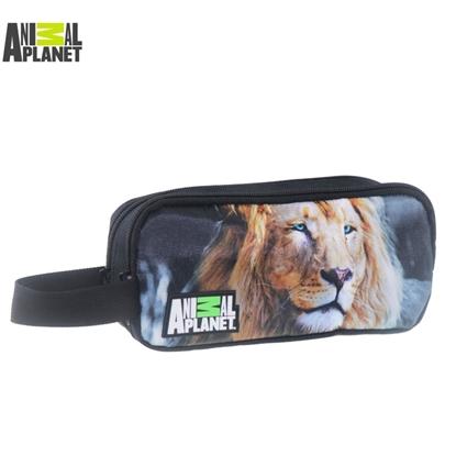 Изображение Animal Planet Zīmuļu penālis ar 2 nodalījumiem uz rāvējslēdzējiem (22x7x10cm) Lauva