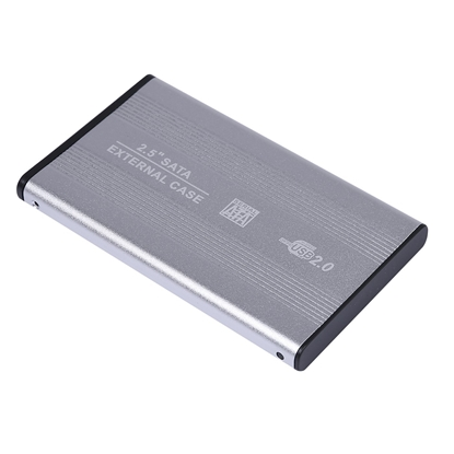 Picture of Reekin HD-001BL Hard Drive Box For HDD 2.5 / USB 2.0 Silver
