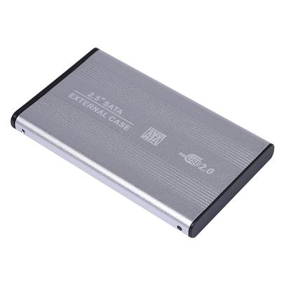 Attēls no Reekin HD-001BL Hard Drive Box For HDD 2.5 / USB 2.0 Silver