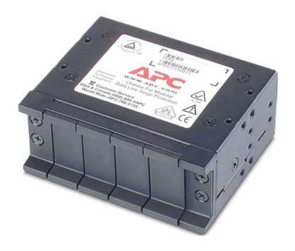 Attēls no 4 position chassis, 1U, for replaceable data line surge protection modules