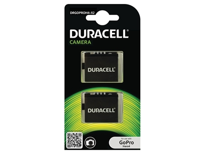 Attēls no 1x2 Duracell Li-Ion bat. 1160mAh for GoPro Hero 4