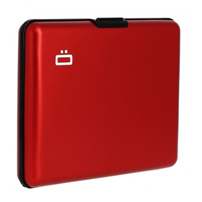 Attēls no Ögon Big Stockholm 95 g, Red, Aluminium, Wallet / Credit card holder in aliuminium, RFID Safe : protects your cards from electronic data theft. Holds up to 10 cards + ID card, driving licence.