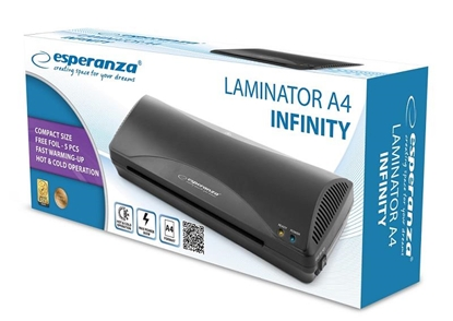 Изображение Esperanza EFL001 laminator Cold/hot laminator 250 mm/min Black