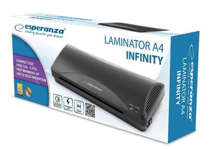 Attēls no Esperanza EFL001 laminator Cold/hot laminator 250 mm/min Black
