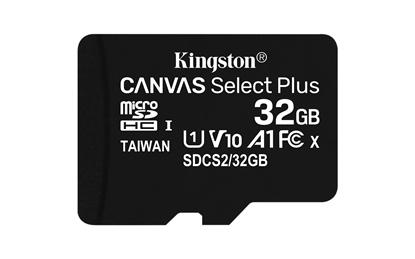 Attēls no Kingston Canvas Select MicroSDHC 32GB + Adapter