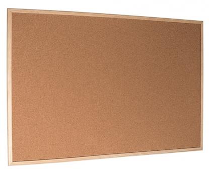 Attēls no Esselte Pinboard Cork Standard wood frame 120 x 90 cm