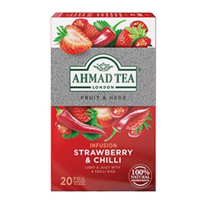 Picture of AHMAD Augļu un zāļu tējas maisījums    Zemene & Čili , 20 tējas maisiņi folijas iepakojumā