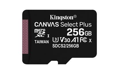 Attēls no Kingston Canvas Select Plus 256GB MicroSDXC + SD Adapter