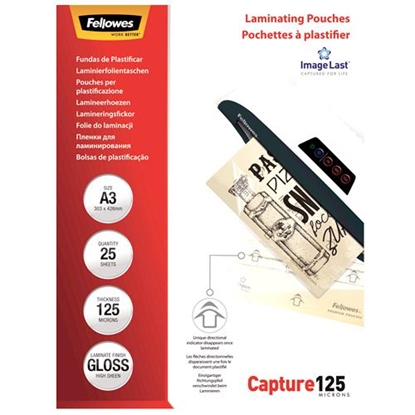 Изображение Laminating pouch 125 µ, 303x426 mm - A3, 25 pcs