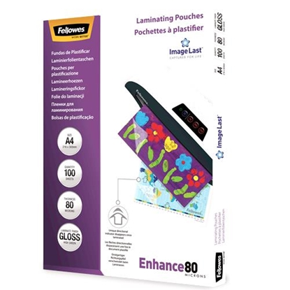 Picture of Fellowes ImageLast A4 80 micron   100-pack