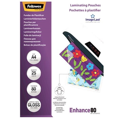 Attēls no Fellowes ImageLast A4 80 micron   25-pack