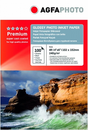 Изображение AgfaPhoto Premium Photo Glossy Paper 240 g 10x15 cm 100 Sheets