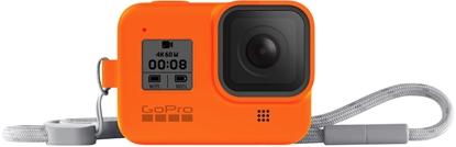 Изображение GoPro Sleeve + Lanyard Hero8 Black, orange