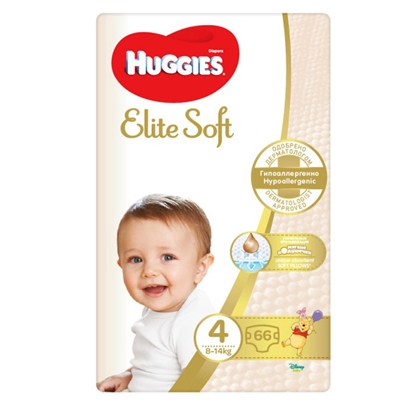 Attēls no Autiņbiksītes Huggies Elite Soft 4 8-14kg 66gab