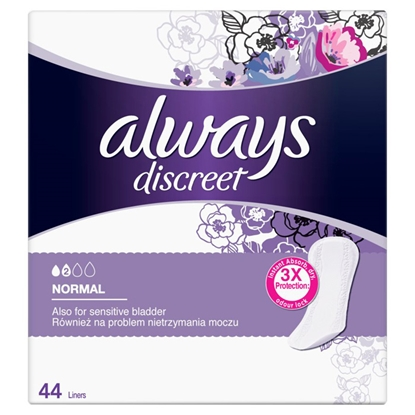 Picture of Hig.ieliktnīši Always Discreet Panty liners Normal 44gab