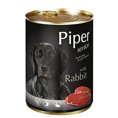 Attēls no Konservi suņiem Piper Senior trusis 400g