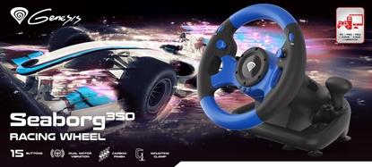 Attēls no Steering wheel NATEC Genesis Seaborg 350 NGK-1566 (NS, PC, PS3, PS4, Xbox 360, Xbox One)