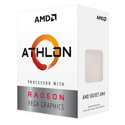 Attēls no AMD Athlon 3000G, 2C/4T, 3.5 GHz, 5 MB, AM4, 35W, BOX