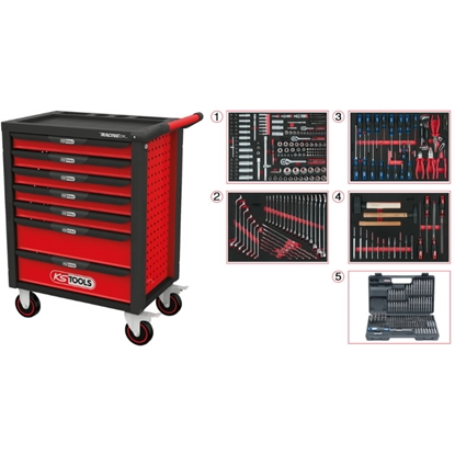 Attēls no KSTOOLS RACINGline BLACK/RED tool cabinet with seven drawers and 515,