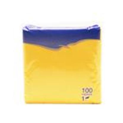 Изображение Salvetes 24x24 cm,  100 salvetes,  dzeltenas