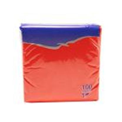 Attēls no Salvetes 24x24 cm,  100 salvetes,  sarkanas