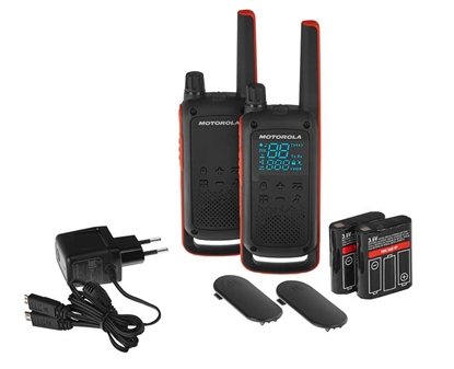 Изображение Motorola T82 Twin Pack two-way radio 16 channels Black,Orange