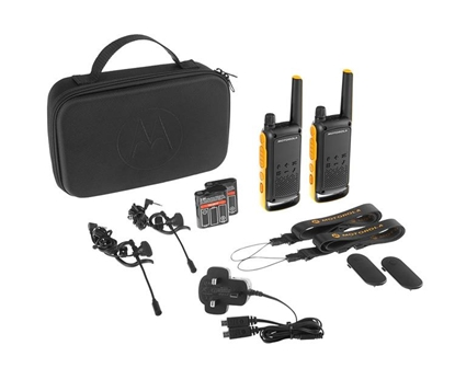 Picture of Motorola Talkabout T82 Extreme Twin Pack two-way radio 16 channels Black,Orange