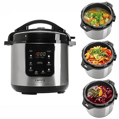 Изображение Camry CR 6409 multi cooker 6 L 1000 W Black,Stainless steel