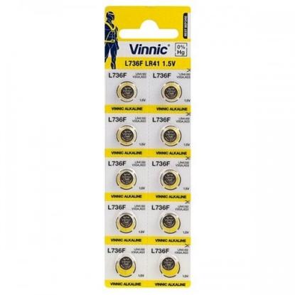 Picture of BATG3.VNC10; G3 baterijas Vinnic Alkaline LR736/L736/192 iepakojumā 10 gb.