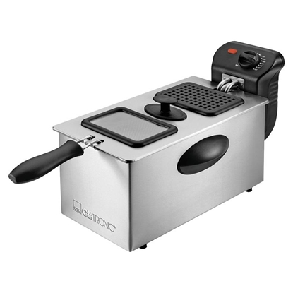 Picture of Clatronic FR 3587 Deep fryer 3 L Single Black,Stainless steel Stand-alone 2000 W