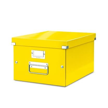 Изображение ESSELTE Arhīva kārba LEITZ CLICK'N'STORE WOW, A4 formāts, 200 x 281 x 370 m, dzeltenā krāsā