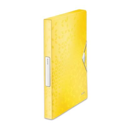 Изображение ESSELTE Mape ar gumiju LEITZ WOW, A4, 30 mm, dzeltenā krāsā