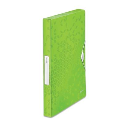 Изображение ESSELTE Mape ar gumiju LEITZ WOW, A4, 30 mm, zaļā krāsā