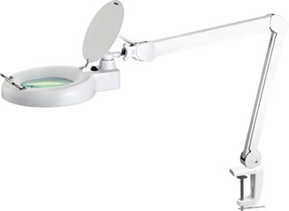Attēls no Darbnīcas 80 LED lampa ar palielināmo stiklu 5d balta Newbrand