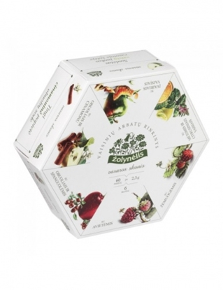 Attēls no Žolynėlis Fruit tea set Summer taste, 150g (6 types of teas with 10 envelopes)