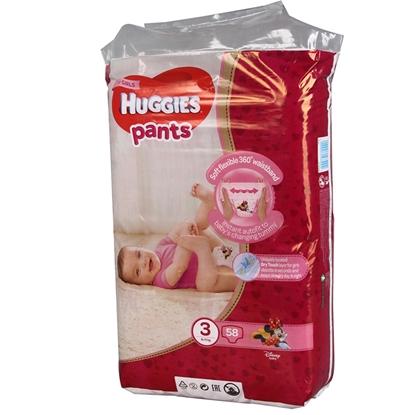 Изображение Autiņbiksītes Huggies Pants Girl 6-11kg 58gab.