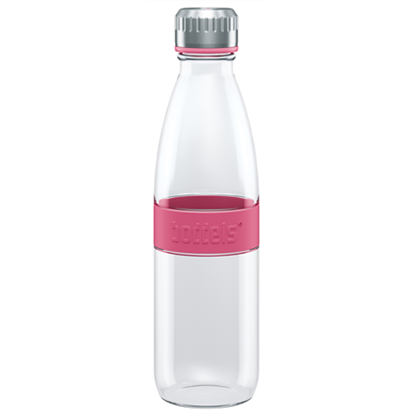 Attēls no Boddels DREE Drinking bottle, glass Bottle, Raspberry red, Capacity 0.65 L, Bisphenol A (BPA) free