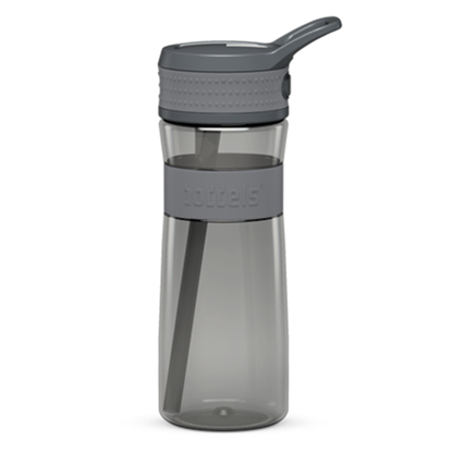 Attēls no Boddels EEN Drinking bottle Bottle, Light grey/Grey, Capacity 0.6 L, Bisphenol A (BPA) free