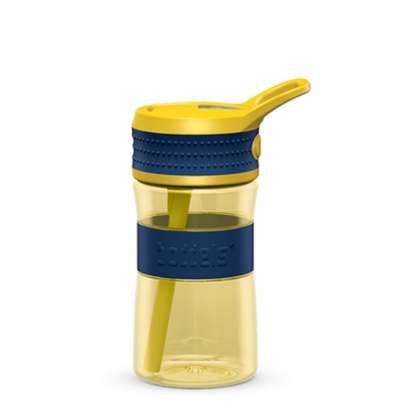 Attēls no Boddels EEN Drinking bottle Bottle, Night blue/Yellow, Capacity 0.4 L, Diameter 7.5 cm, Bisphenol A (BPA) free