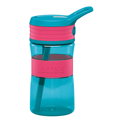 Attēls no Boddels EEN Drinking bottle Bottle, Raspberry red/Turqouise blue, Capacity 0.4 L, Bisphenol A (BPA) free