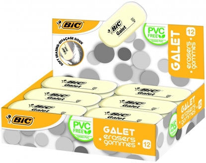 Picture of BIC Eraser GALET, Pouch 12 pcs 388512