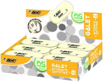 Изображение BIC Eraser GALET, Pouch 12 pcs 388512