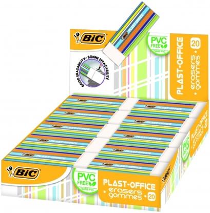 Attēls no BIC Eraser PLASTOFFICE, Pouch 20 pcs 388529