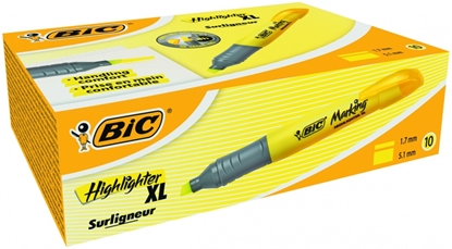 Attēls no BIC Highlighter XL 2-5 mm, yellow, Pouch 10 pcs 247123
