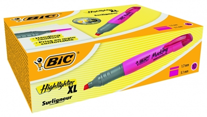 Изображение BIC Highlighter XL 2-5 mm, pink, Pouch 10 pcs 247130
