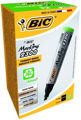 Attēls no BIC permanent MARKER ECO 2300 4-5 mm, green, Pouch 12 pcs 300027