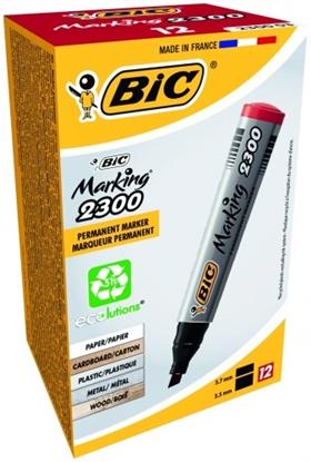 Attēls no BIC permanent MARKER ECO 2300 B12 BCL RED EU, 12 pcs 300034